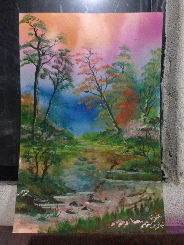 un bosque y un río